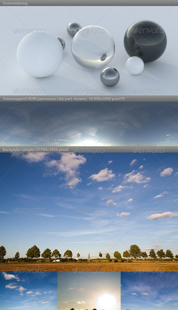 HDRI spherical sky panorama -1839- summer sunset - 3DOcean Item for Sale