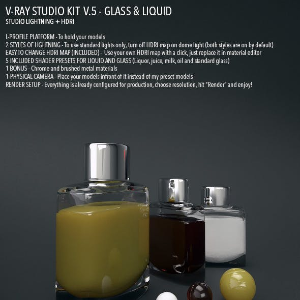 Vray Studio Setup v.5 - Glass & Liquid