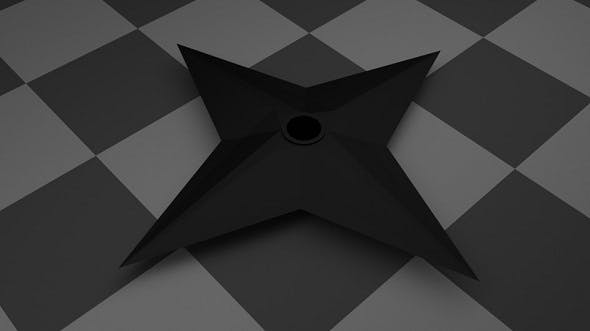 Low Poly Shuriken - 3DOcean Item for Sale