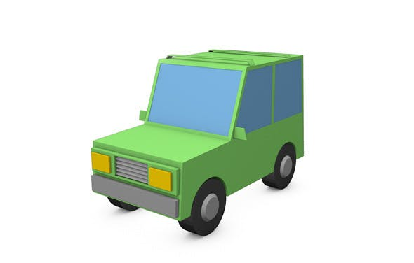 Low Poly Style Toy car - 3DOcean Item for Sale