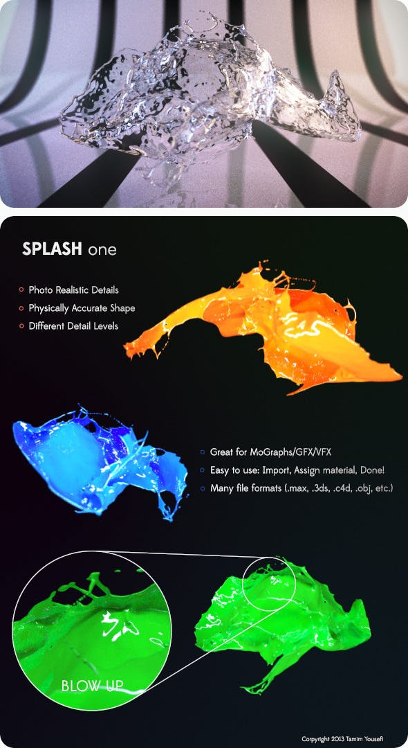 Photo Realistic Water/Paint Splash - 3DOcean Item for Sale