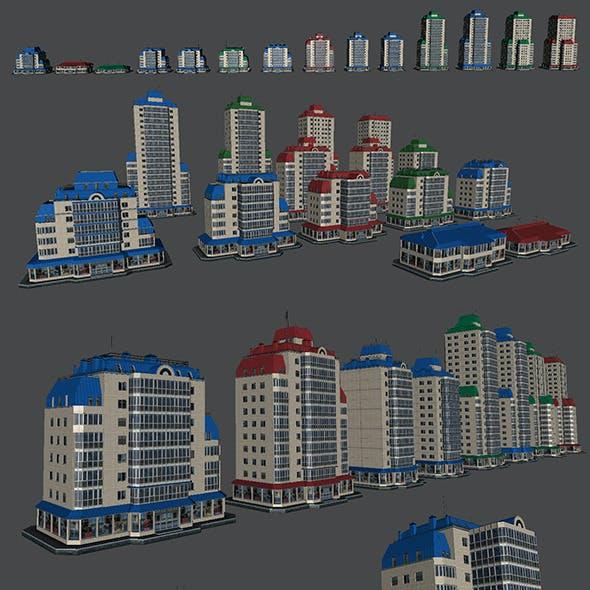 Pack of 14 Buildings