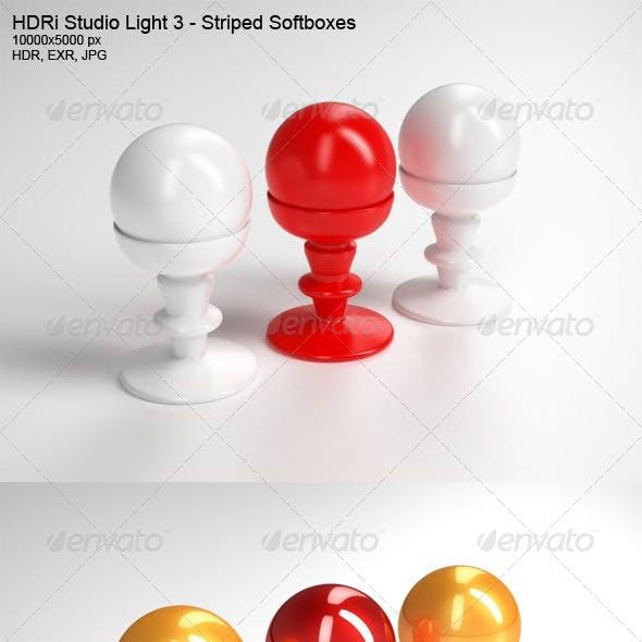 HDRi Studio Light 3 - Striped Softboxes