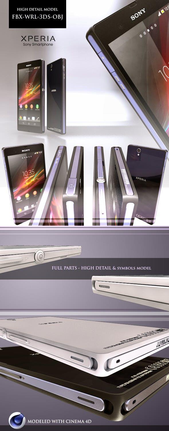 Sony Xperia Z High Detail Model (FBX-WRL-3DS-OBJ) - 3DOcean Item for Sale
