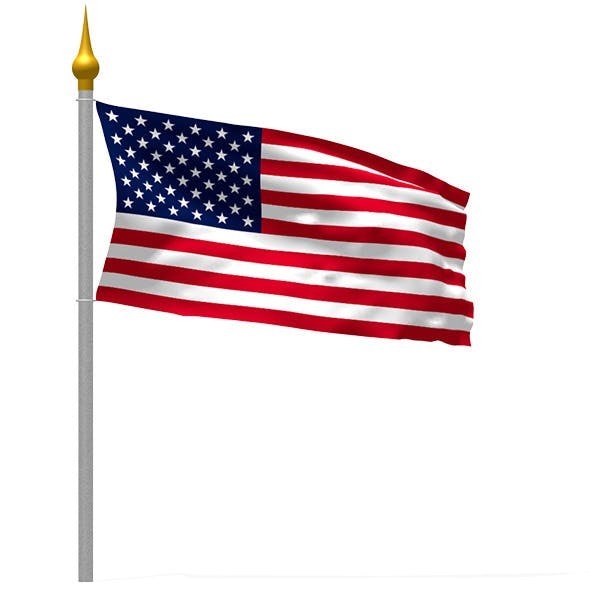 Waving Flag Cloth and Wind Simulation, 6 Flags inc