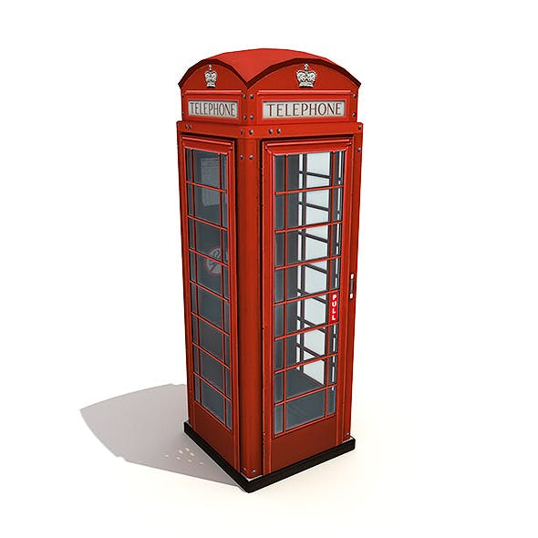 British Phone Booth - 3DOcean Item for Sale