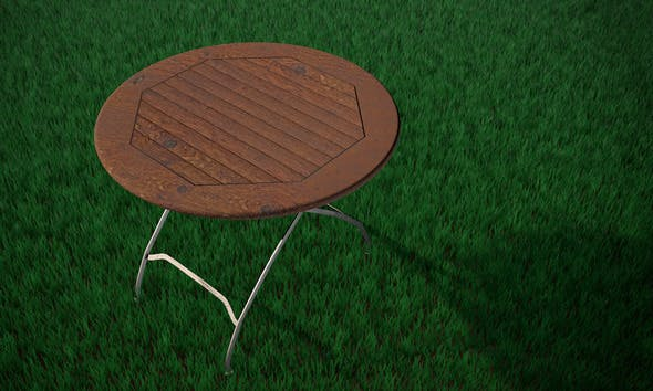 High Res Garden Table - 3DOcean Item for Sale