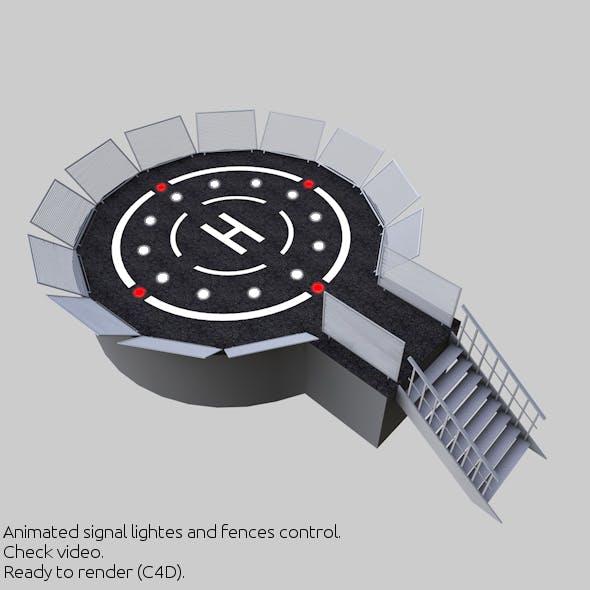 Helipad 3D Landing Zone 2