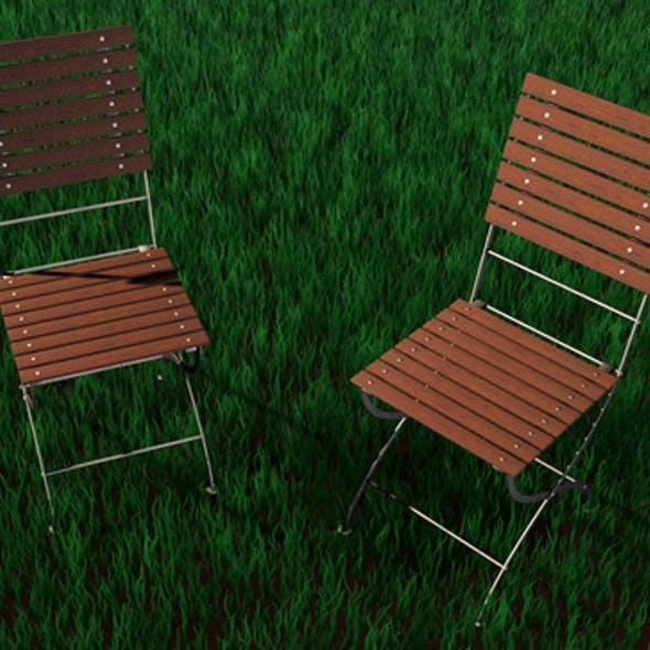 High Detailed Garden Chair