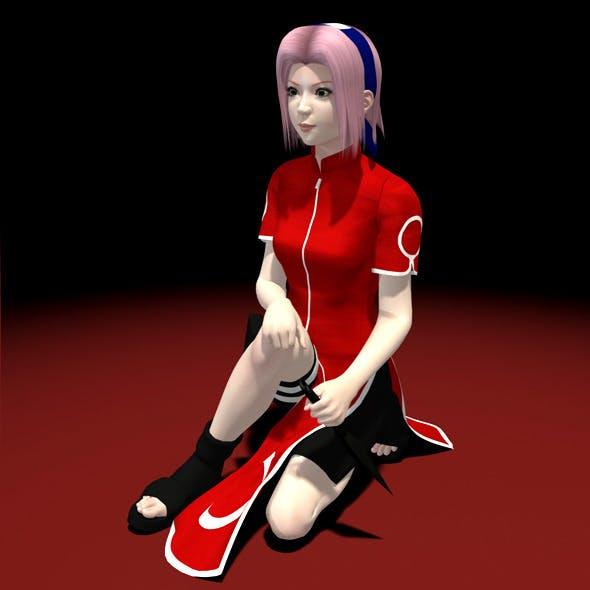 Naruto - Sakura Haruno 3D Model 01