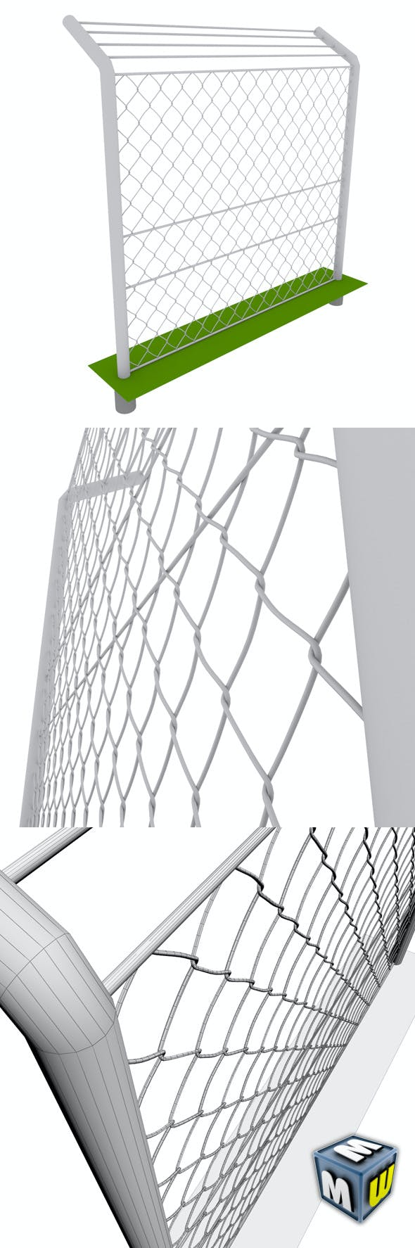 Mesh_Fence max 2010 - 3DOcean Item for Sale