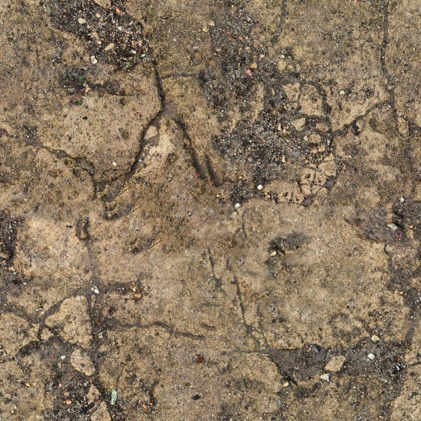 Cracked Concrete Slab - 3DOcean Item for Sale