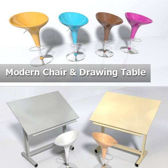 Modern chair & Drawing table