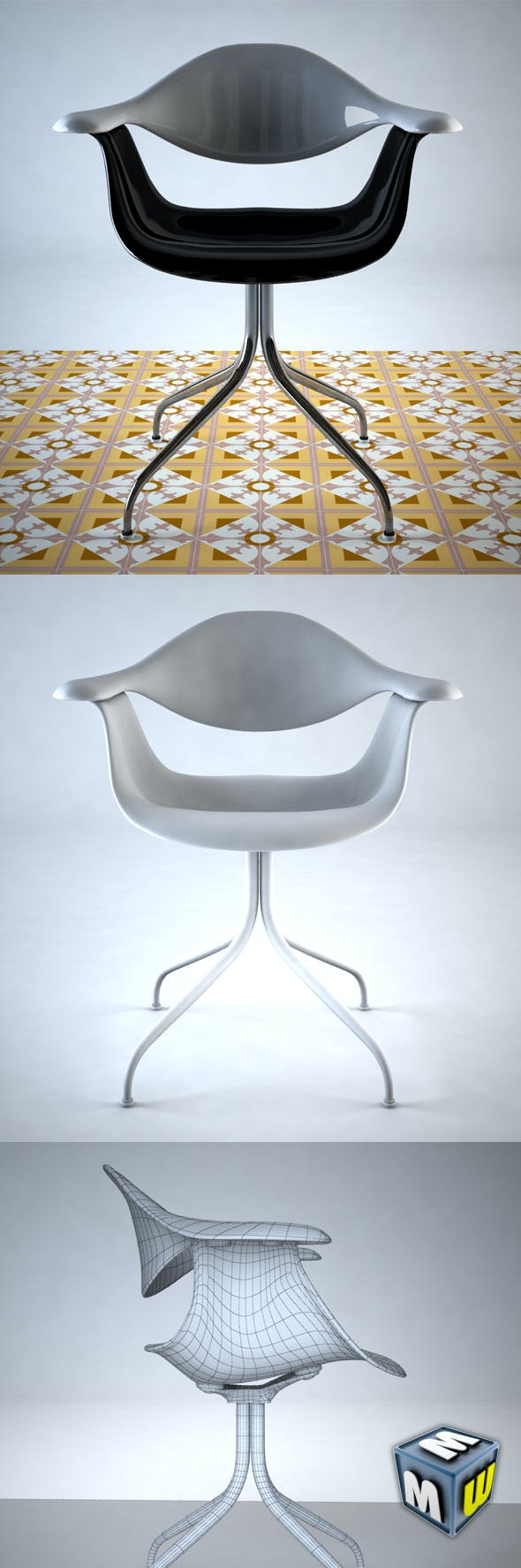 Nelson Swag Leg Chair Max 2011 - 3DOcean Item for Sale