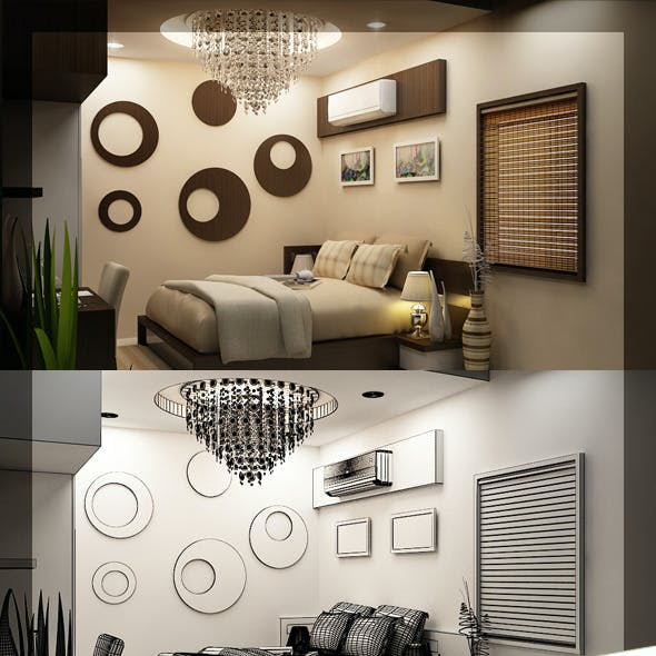 Realistic Bed Room 116