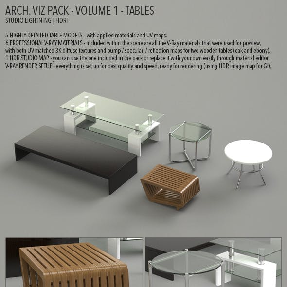 Arch Viz Pack Volume 1 - Tables