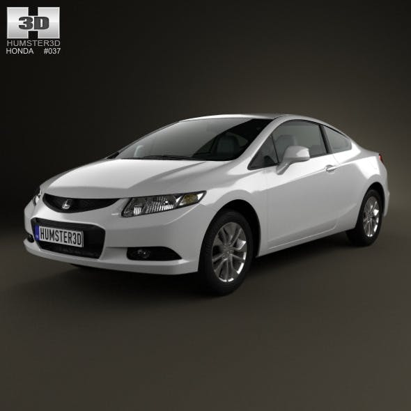 Honda Civic coupe 2013 - 3DOcean Item for Sale
