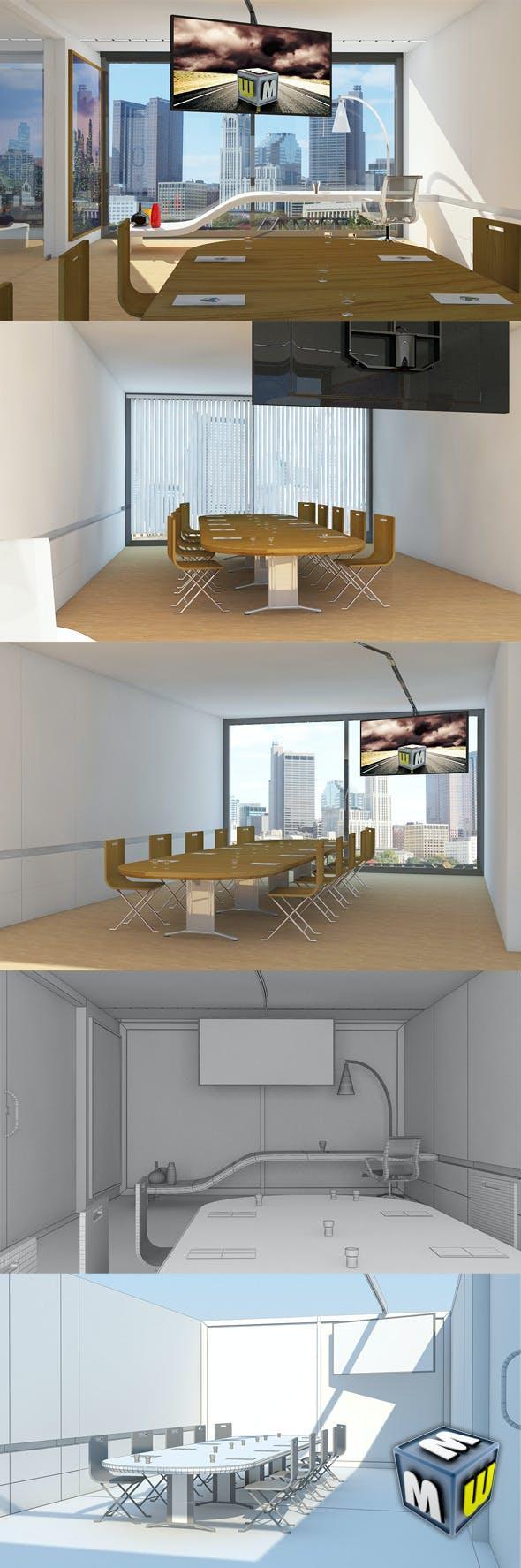 Office scene Max 2011/2010 - 3DOcean Item for Sale