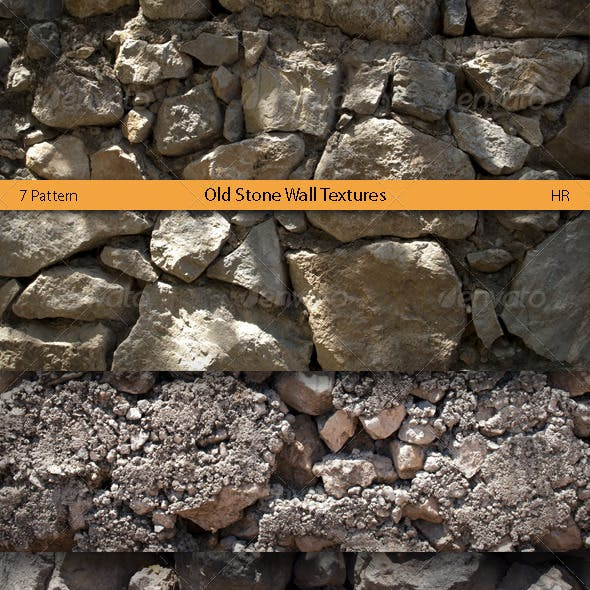 Old Stone Wall Surface Textures