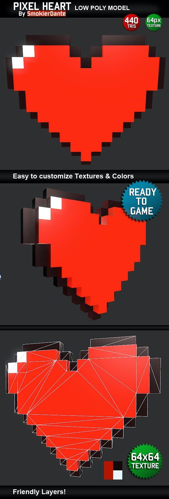 Pixel Heart - 3DOcean Item for Sale