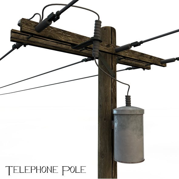 Telephone Pole - 3DOcean Item for Sale
