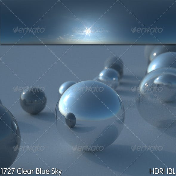 HDRI IBL 1727 Clear Blue Sky