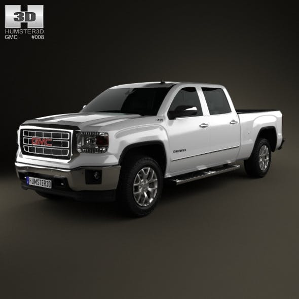 GMC Sierra Double Cab 2013 - 3DOcean Item for Sale