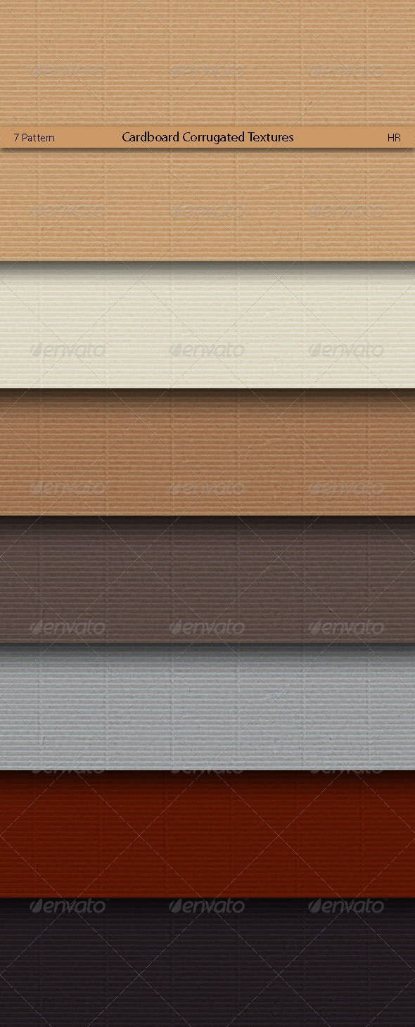 Cardboard Corrugated Surface Textures  - 3DOcean Item for Sale
