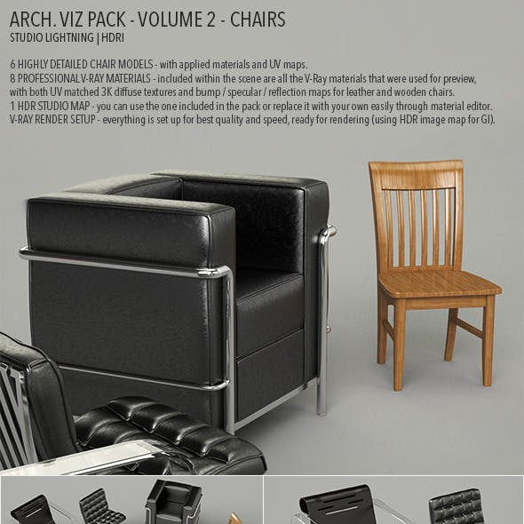 Arch Viz Pack Volume 2 - Chairs