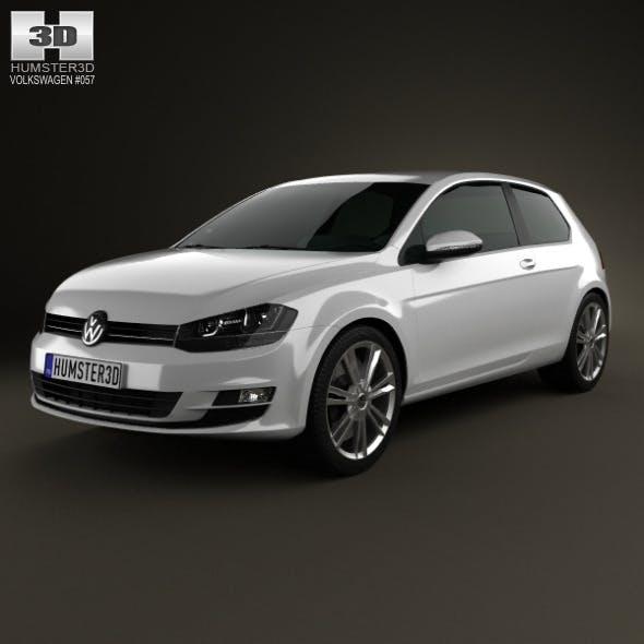 Volkswagen Golf Mk7 3-door 2013 - 3DOcean Item for Sale