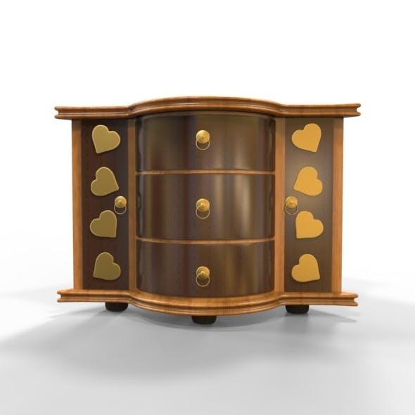 Corner Cabinet Drawer and Base Mesh