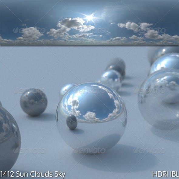 HDRI IBL 1412 Sun Clouds Sky