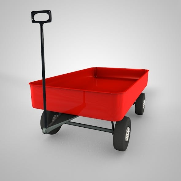 Toy Wagon and Base Mesh - 3DOcean Item for Sale