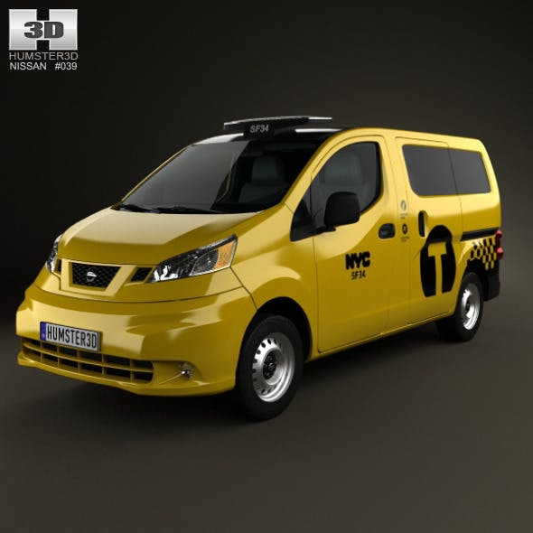 Nissan NV200 New York Taxi 2014 - 3DOcean Item for Sale