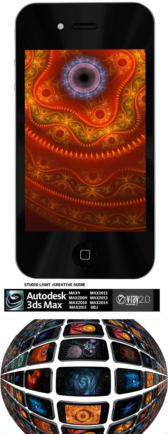 Iphone 4 + Creative scene - 3DOcean Item for Sale