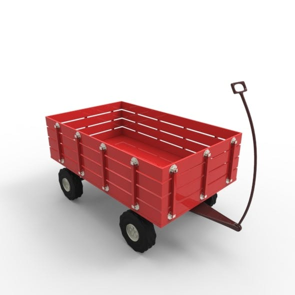 Toy Wagon Car and Base Mesh 2 - 3DOcean Item for Sale