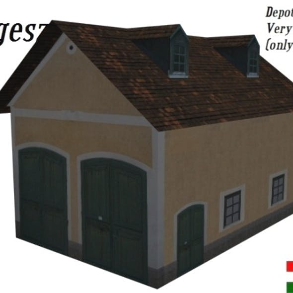 Textured Depot Building (Low Poly)