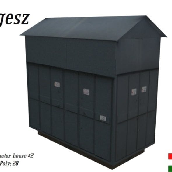 Textured Low Poly Transformator House