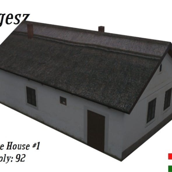 Textured Village House (Low Poly)