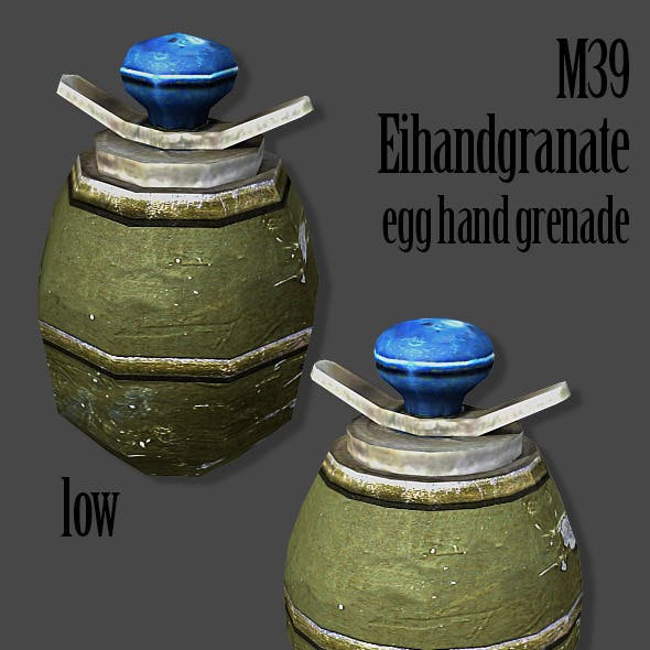 M39 Eihandgranate Egg Hand Grenade 3D Model