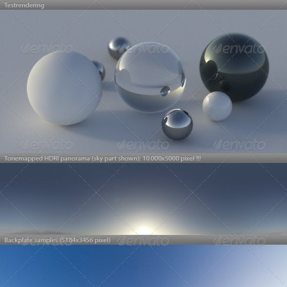 HDRI spherical sky panorama -0836- misty morning