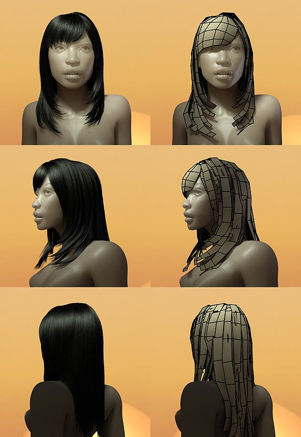 Female Hair Style 005 - 3DOcean Item for Sale