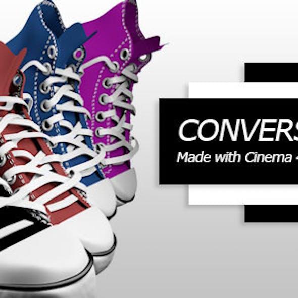 Converse shoe C4D