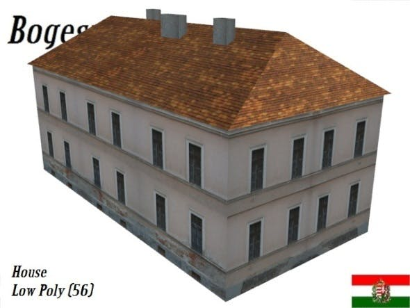 Textured Residential House (Low Poly) - 3DOcean Item for Sale