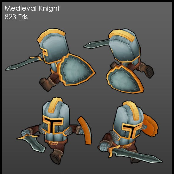 Low Poly Medieval Knight