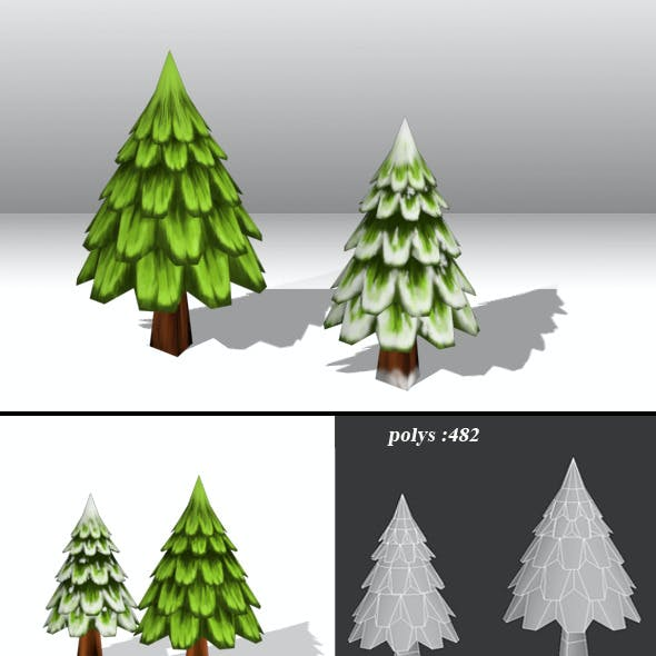 Tree Low Poly-Pack