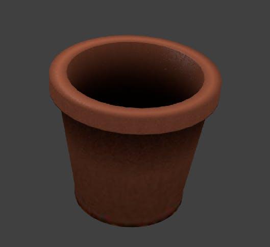 Brick Pot 1 - 3DOcean Item for Sale