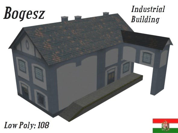 Textured Industrial Building (Low Poly) - 3DOcean Item for Sale