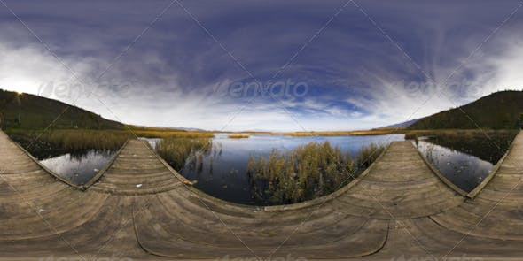 HDRI Reeds Lakes In The Mountains Behind The Pier - 3DOcean Item for Sale