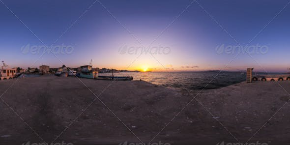 HDRI Sunset From The Pier - 3DOcean Item for Sale